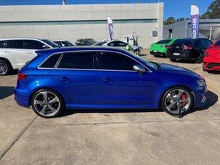 2016 Audi RS 3 8V MY16 Sportback S Tronic Quattro Blue 7 Speed Sports Automatic Dual Clutch