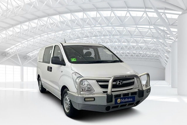 Used Hyundai iLOAD TQ2-V MY12 Crew Cab Moorebank, 2012 Hyundai iLOAD TQ2-V MY12 Crew Cab White 5 Speed Automatic Van