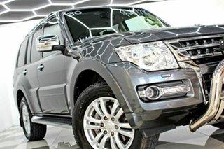 2018 Mitsubishi Pajero NX MY19 GLS LWB (4x4) 7 Seat Grey 5 Speed Auto Sports Mode Wagon.