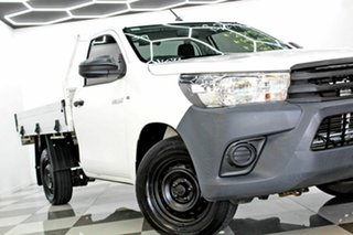 2015 Toyota Hilux TGN16R MY14 Workmate White 5 Speed Manual Cab Chassis.