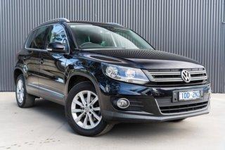 2014 Volkswagen Tiguan 5N MY15 132TSI DSG 4MOTION Deep Black Pearl Effect 7 Speed.