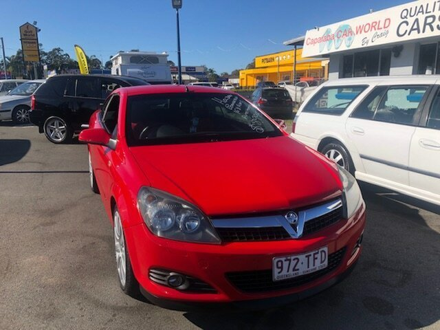 Used Holden Astra AH Twin TOP Capalaba, 2007 Holden Astra AH Twin TOP Red 4 Speed Automatic Convertible