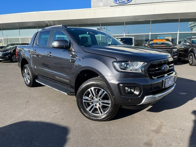 Used Ford Ranger PX MkIII 2020.25MY Wildtrak Essendon Fields, 2019 Ford Ranger PX MkIII 2020.25MY Wildtrak Grey 10 Speed Sports Automatic Double Cab Pick Up