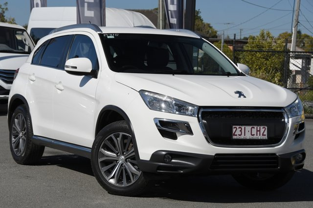 Used Peugeot 4008 MY15 Active 2WD Rocklea, 2015 Peugeot 4008 MY15 Active 2WD Antarctic White/black 6 Speed Constant Variable Wagon
