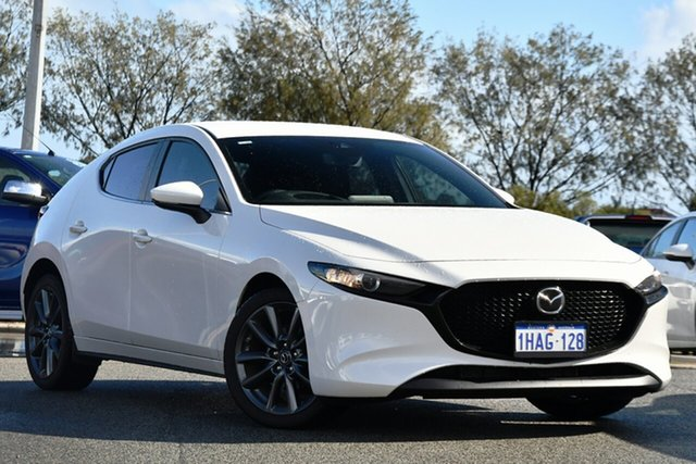 Used Mazda 3 BP2H7A G20 SKYACTIV-Drive Evolve Clarkson, 2020 Mazda 3 BP2H7A G20 SKYACTIV-Drive Evolve White 6 Speed Sports Automatic Hatchback