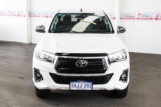 2020 Toyota Hilux GUN126R SR5 Double Cab Glacier White 6 Speed Manual Utility.
