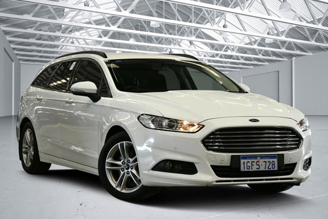 Used Ford Mondeo MD Ambiente TDCi Perth Airport, 2016 Ford Mondeo MD Ambiente TDCi Island White 6 Speed Automatic Wagon