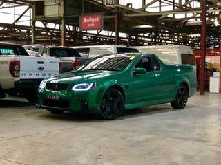 2011 Holden Ute VE II SV6 Thunder Green 6 Speed Manual Utility.