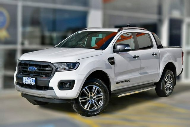 Used Ford Ranger PX MkIII 2021.25MY Wildtrak Berwick, 2021 Ford Ranger PX MkIII 2021.25MY Wildtrak White 10 Speed Sports Automatic Double Cab Pick Up