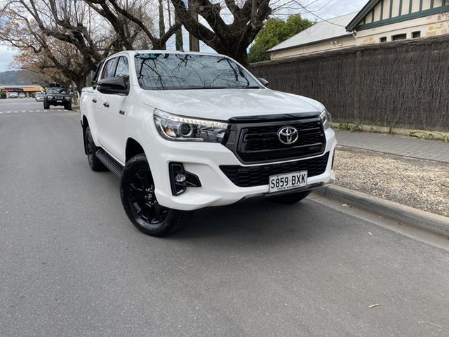 Pre-Owned Toyota Hilux GUN126R Rogue Double Cab Hawthorn, 2018 Toyota Hilux GUN126R Rogue Double Cab White 6 Speed Sports Automatic Utility