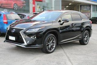 2016 Lexus RX GYL25R RX450h F Sport Black 6 Speed Constant Variable Wagon Hybrid.