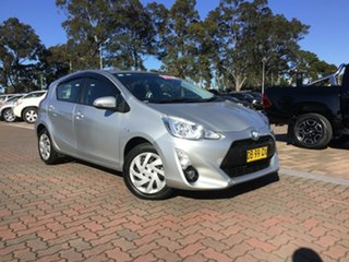 2014 Toyota Prius c NHP10R E-CVT Silver 1 Speed Constant Variable Hatchback Hybrid.