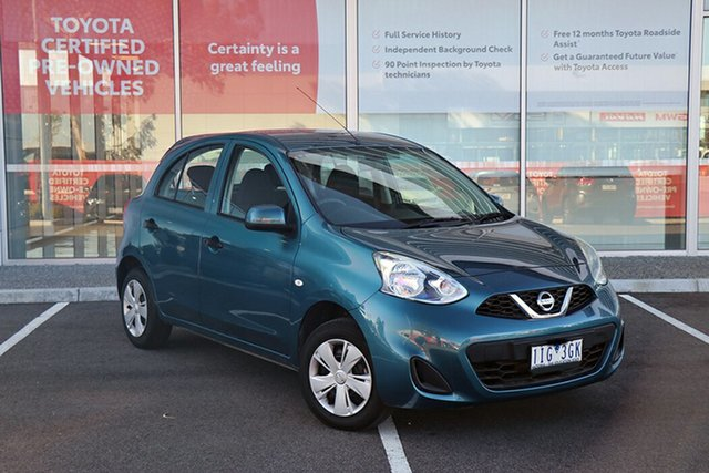 Pre-Owned Nissan Micra K13 Series 4 MY15 ST South Morang, 2016 Nissan Micra K13 Series 4 MY15 ST Blue 4 Speed Automatic Hatchback