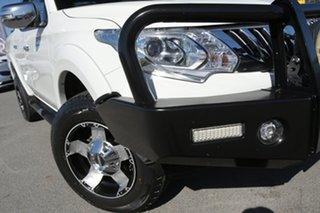 2015 Mitsubishi Triton MQ MY16 GLS Double Cab White Solid 6 Speed Manual Utility.