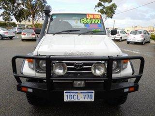 2004 Toyota Landcruiser HZJ79R White 5 Speed Manual Cab Chassis.