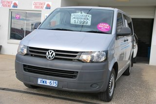 2010 Volkswagen Transporter T5 MY10 103 TDI LWB Low Silver 7 Speed Auto Direct Shift Van.