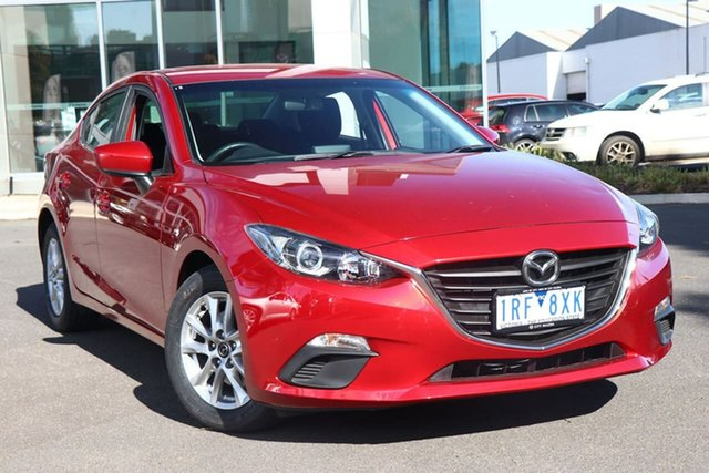 Used Mazda 3 BM5278 Maxx SKYACTIV-Drive South Melbourne, 2015 Mazda 3 BM5278 Maxx SKYACTIV-Drive Soul Red 6 Speed Sports Automatic Sedan