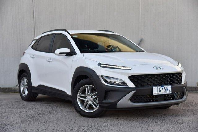 Used Hyundai Kona Os.v4 MY21 2WD Oakleigh, 2021 Hyundai Kona Os.v4 MY21 2WD White 8 Speed Constant Variable Wagon