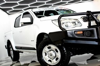 2014 Holden Colorado RG MY15 LS (4x4) White 6 Speed Automatic Crew Cab Pickup.
