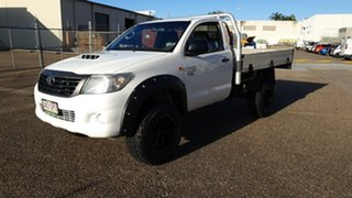 2012 Toyota Hilux KUN26R MY12 Workmate (4x4) White 5 Speed Manual Cab Chassis