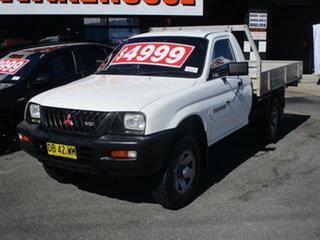 2001 Mitsubishi Triton MK GLX White 5 Speed Manual Cab Chassis.