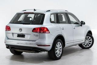 2015 Volkswagen Touareg 7P MY15 150TDI Tiptronic 4MOTION Silver 8 Speed Sports Automatic Wagon.