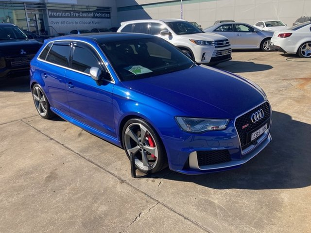Used Audi RS 3 8V MY16 Sportback S Tronic Quattro Chullora, 2016 Audi RS 3 8V MY16 Sportback S Tronic Quattro Blue 7 Speed Sports Automatic Dual Clutch
