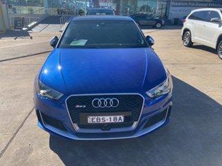 2016 Audi RS 3 8V MY16 Sportback S Tronic Quattro Blue 7 Speed Sports Automatic Dual Clutch.