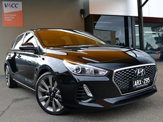 2018 Hyundai i30 PD2 MY18 SR D-CT Black 7 Speed Sports Automatic Dual Clutch Hatchback.
