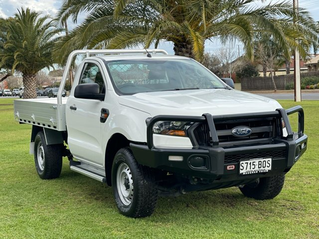 Used Ford Ranger PX MkII XL Cheltenham, 2017 Ford Ranger PX MkII XL Cool White 6 Speed Manual Cab Chassis
