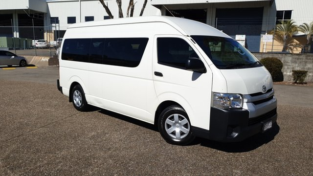 Used Toyota HiAce KDH223R MY14 Commuter Underwood, 2014 Toyota HiAce KDH223R MY14 Commuter White 4 Speed Automatic Bus