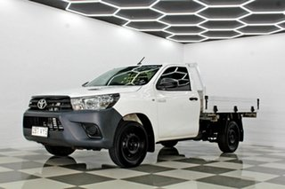2015 Toyota Hilux TGN16R MY14 Workmate White 5 Speed Manual Cab Chassis