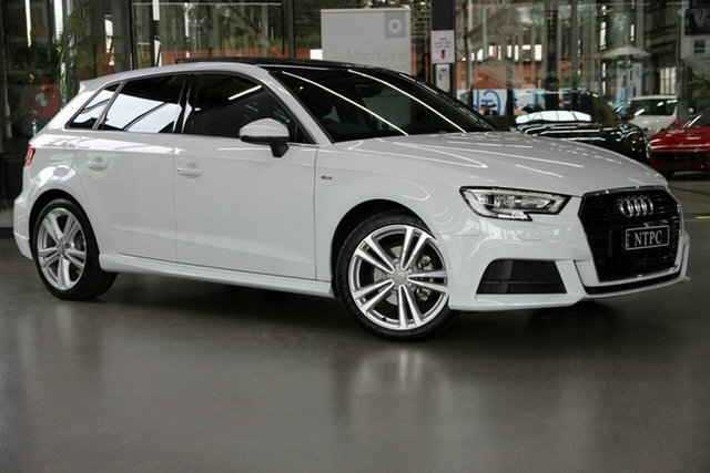 Used Audi A3 8V MY20 35 TFSI Sportback S Tronic S Line Plus North Melbourne, 2019 Audi A3 8V MY20 35 TFSI Sportback S Tronic S Line Plus White 7 Speed