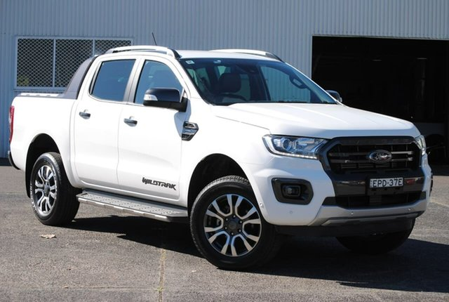Used Ford Ranger PX MkIII 2020.25MY Wildtrak West Gosford, 2019 Ford Ranger PX MkIII 2020.25MY Wildtrak White 10 Speed Sports Automatic Double Cab Pick Up