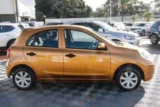 2012 Nissan Micra K13 ST Orange 4 Speed Automatic Hatchback