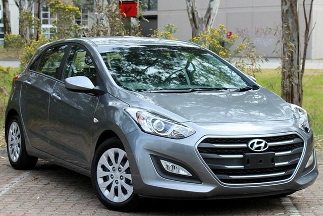 Used Hyundai i30 GD4 Series II MY17 Active Moorabbin, 2016 Hyundai i30 GD4 Series II MY17 Active Grey 6 Speed Sports Automatic Hatchback