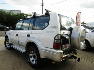 1998 Toyota Landcruiser Prado VZJ95R GXL White 4 Speed Automatic Wagon.
