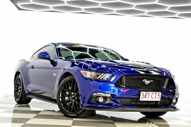 Used Ford Mustang FM MY17 Fastback GT 5.0 V8 Burleigh Heads, 2016 Ford Mustang FM MY17 Fastback GT 5.0 V8 Blue 6 Speed Automatic Coupe