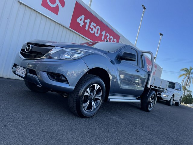 Used Mazda BT-50 UR0YG1 XT Freestyle 4x2 Hi-Rider Bundaberg, 2017 Mazda BT-50 UR0YG1 XT Freestyle 4x2 Hi-Rider Blue 6 Speed Sports Automatic Cab Chassis
