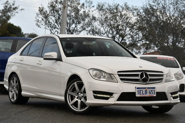 Used Mercedes-Benz C-Class W204 MY14 C200 7G-Tronic + Clarkson, 2014 Mercedes-Benz C-Class W204 MY14 C200 7G-Tronic + White 7 Speed Sports Automatic Sedan