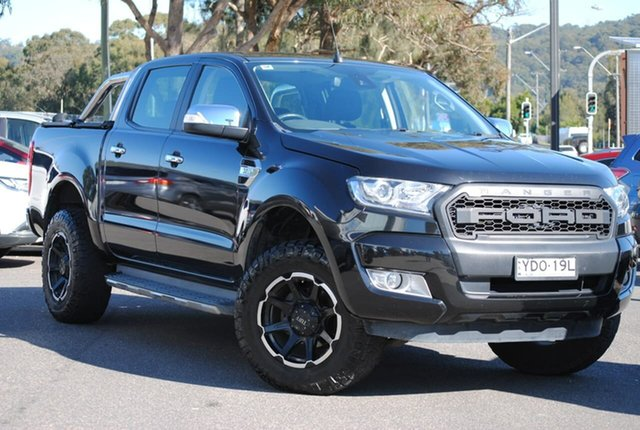 Used Ford Ranger PX MkII XLT Double Cab West Gosford, 2016 Ford Ranger PX MkII XLT Double Cab Black 6 Speed Manual Utility