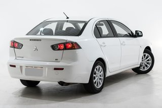 2011 Mitsubishi Lancer CJ MY12 ES White 6 Speed Constant Variable Sedan.