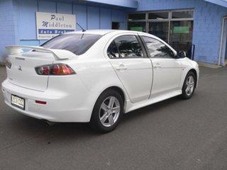 2014 Mitsubishi Lancer CJ MY14 ES White 6 Speed CVT Auto Sequential Sedan.