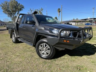 2018 Toyota Hilux GUN126R SR Extra Cab Graphite 6 Speed Manual Cab Chassis.