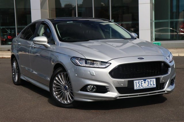 Used Ford Mondeo MD Titanium South Melbourne, 2016 Ford Mondeo MD Titanium Moondust Silver 6 Speed Sports Automatic Hatchback