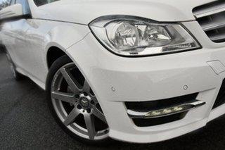 2014 Mercedes-Benz C-Class W204 MY14 C200 7G-Tronic + White 7 Speed Sports Automatic Sedan.