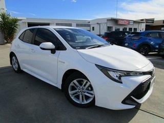 2020 Toyota Corolla ZWE211R Ascent Sport E-CVT Hybrid White 10 Speed Constant Variable Hatchback.