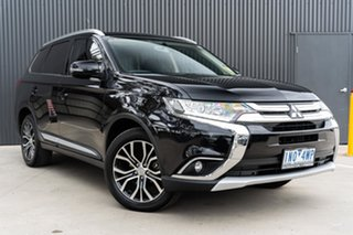 2017 Mitsubishi Outlander ZK MY17 LS 4WD Black 6 Speed Constant Variable Wagon.