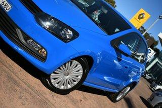 2015 Volkswagen Polo 6R MY15 66 TSI Trendline Blue 7 Speed Auto Direct Shift Hatchback.