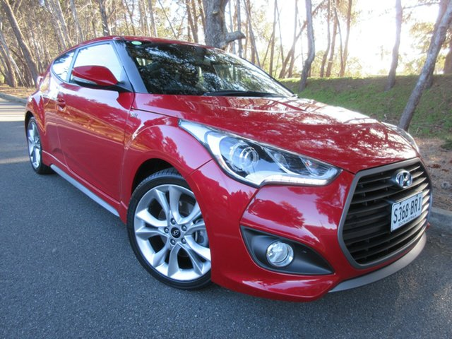 Used Hyundai Veloster FS4 Series II SR Coupe D-CT Turbo Reynella, 2016 Hyundai Veloster FS4 Series II SR Coupe D-CT Turbo Veloster Red Pearl/s 7 Speed